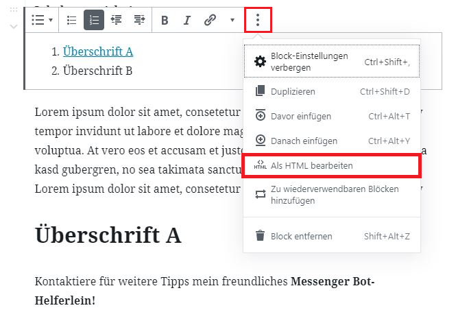 HTML Anker setzen